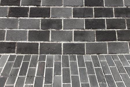 concrete block: Gray brick wall