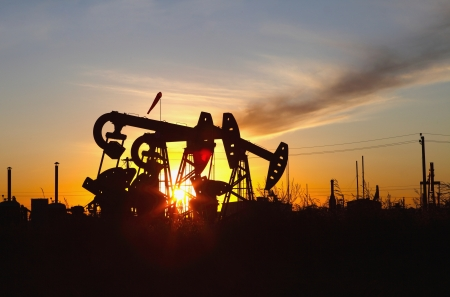 Oil pumps  Oil industry equipment Stock Photo - 16921321