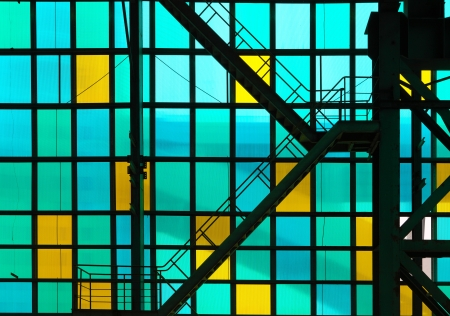 ladder  and  colorful transparent glass  Stock Photo - 16988957
