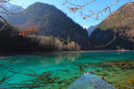 Colorful autumn scene in JiuZhaiGou,