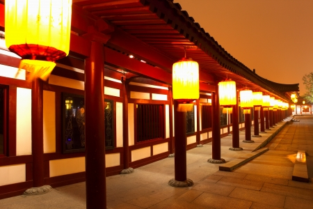 Beautiful night scenes of the famous ancient city of Xian,China  Stock Photo - 17091949