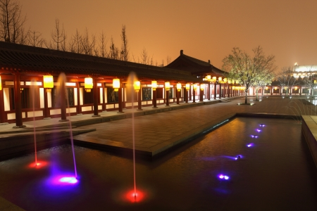 Beautiful night scenes of the famous ancient city of Xian,China  Stock Photo - 17091953