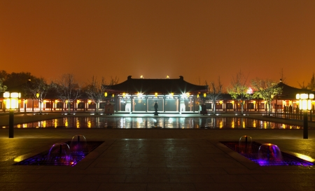 Beautiful night scenes of the famous ancient city of Xian,China  Stock Photo - 17091950