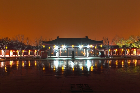 Beautiful night scenes of the famous ancient city of Xian,China  Stock Photo - 17091956