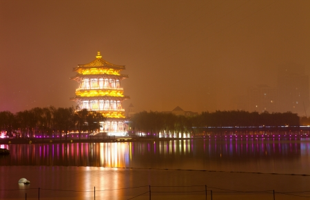 Beautiful night scenes of the famous ancient city of Xian,China  Stock Photo - 17091942