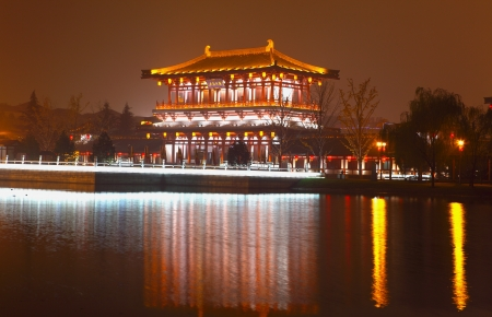 Beautiful night scenes of the famous ancient city of Xian,China  Stock Photo - 17091954