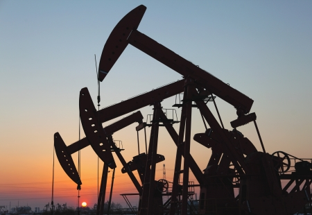 Oil pumps  Oil industry equipment Stock Photo - 17048167
