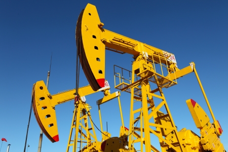 Oil pumps  Oil industry equipment   Stock Photo - 17046415
