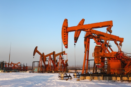 Oil pumps  Oil industry equipment Stock Photo - 17140435