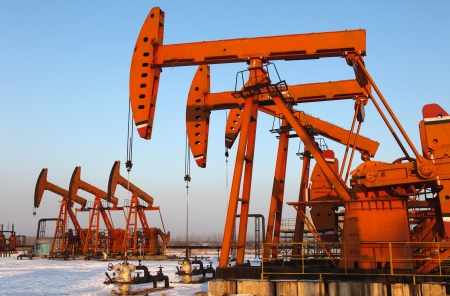 Oil pumps  Oil industry equipment Stock Photo - 17140319