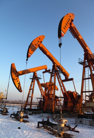 Oil pumps  Oil industry equipment Stock Photo - 17140425
