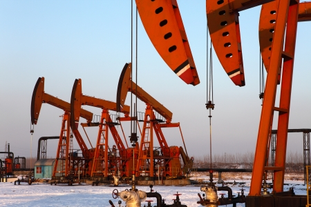 Oil pumps  Oil industry equipment Stock Photo - 17140434