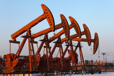 Oil pumps  Oil industry equipment Stock Photo - 17140318