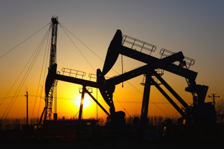 Oil pumps  Oil industry equipment Stock Photo - 17140135
