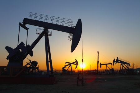 Oil pumps  Oil industry equipment Stock Photo - 17140134