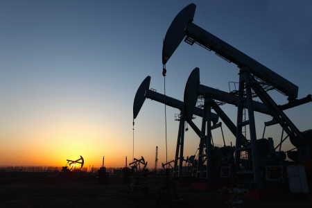 Oil pumps  Oil industry equipment Stock Photo - 17140132