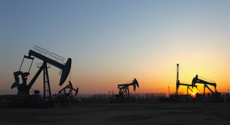 Oil pumps  Oil industry equipment   Stock Photo - 17119071