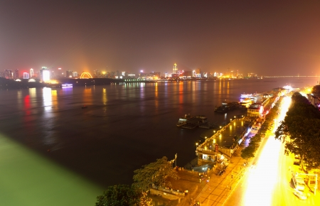 Panoramic view of wuhan by night Stock Photo - 17140456