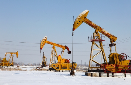 Oil pumps  Oil industry equipment Stock Photo - 17140445