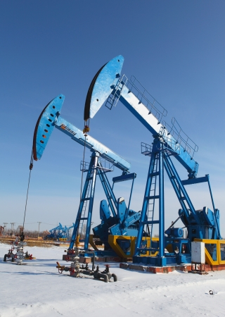 Oil pumps  Oil industry equipment   Stock Photo - 17140442
