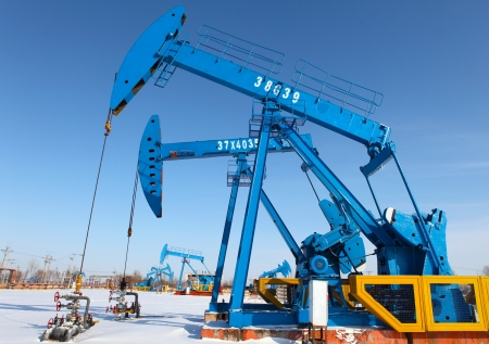 Oil pumps  Oil industry equipment Stock Photo - 17140473