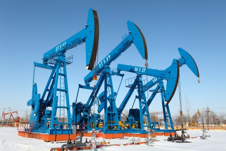 Oil pumps  Oil industry equipment   photo