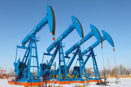 Oil pumps  Oil industry equipment Stock Photo - 17140536