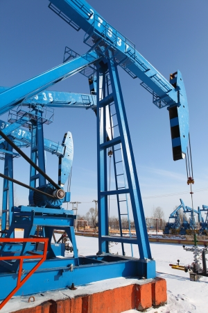Oil pumps  Oil industry equipment Stock Photo - 17140542
