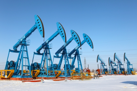 Oil pumps  Oil industry equipment Stock Photo - 17140539