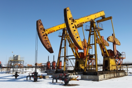 Oil pumps  Oil industry equipment Stock Photo - 17140470