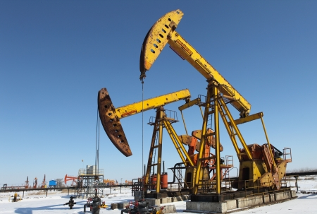 Oil pumps  Oil industry equipment   Stock Photo - 17140459
