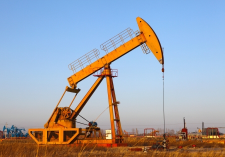 Oil pumps  Oil industry equipment Stock Photo - 17212466