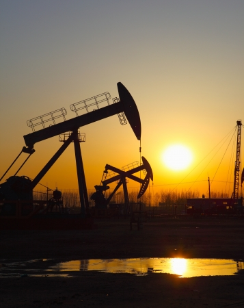 Oil pumps  Oil industry equipment   Stock Photo - 17212495