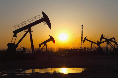 Oil pumps  Oil industry equipment Stock Photo - 17212481