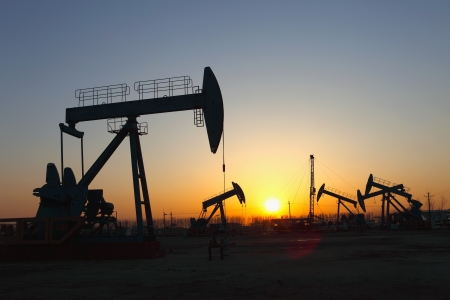 Oil pumps  Oil industry equipment Stock Photo - 17212505
