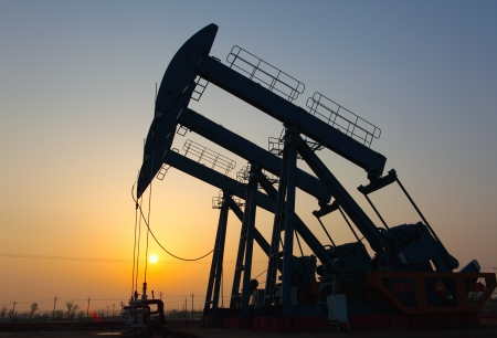 Oil pumps  Oil industry equipment Stock Photo - 17212498