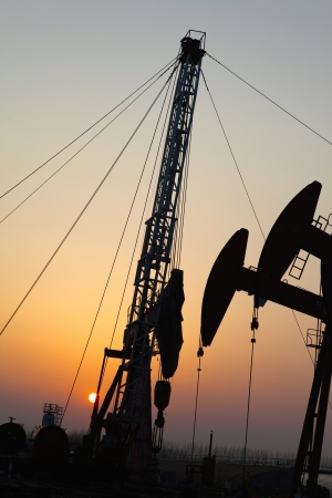 Oil pumps  Oil industry equipment Stock Photo - 17212509
