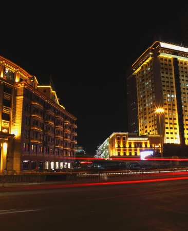 Night view of Xiamen city  photo