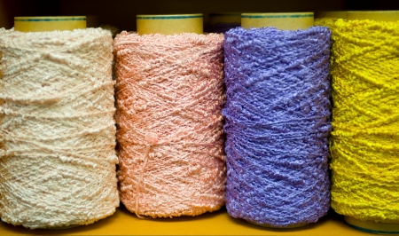 colorful bobbins with the place for your text Stock Photo - 17376004