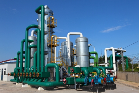 oil and gas processing plant photo