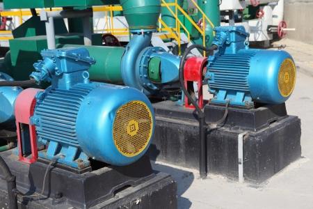 Electric motors driving water pumps