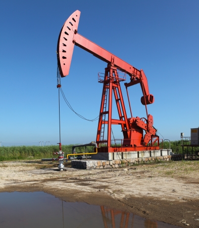 Oil pumps  Oil industry equipment Stock Photo - 17440720
