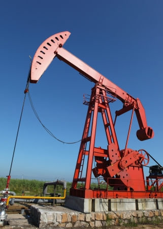 Oil pumps  Oil industry equipment Stock Photo - 17440693
