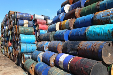 waste disposal: oil barrels