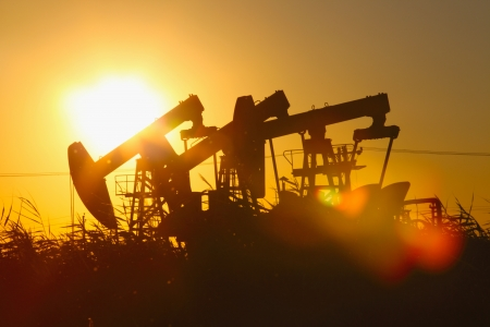 Oil pumps  Oil industry equipment Stock Photo - 17729280