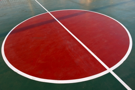 Basketball field background photo