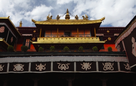 tibet: Jokhang temple in Lhasa, Tibet Stock Photo