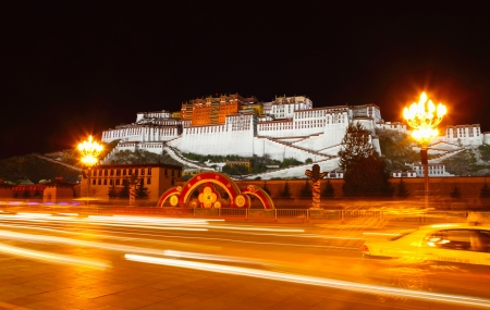 lamaism: the great potala palace in tibet China in fine weather
