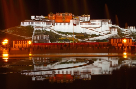 potala: the great potala palace in tibet China in fine weather