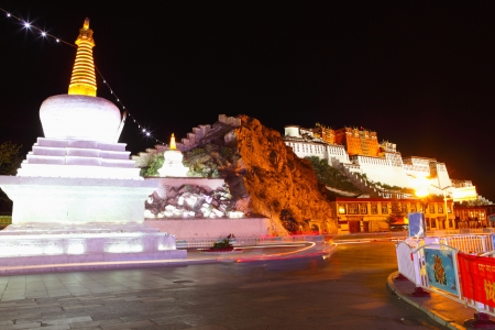 dalai: the great potala palace in tibet China in fine weather